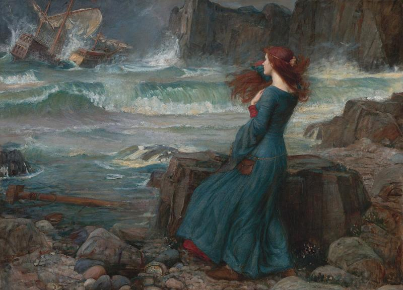 Miranda, The Tempest, John William Waterhouse